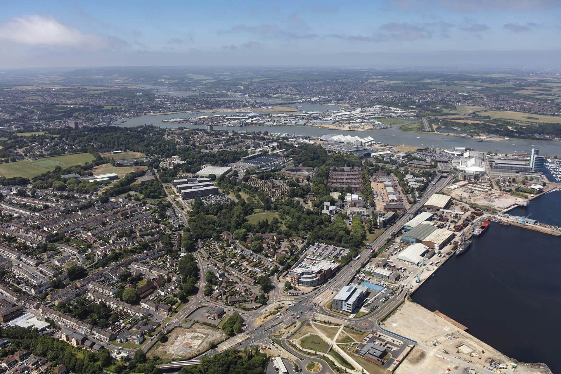 Aerial shot of Medway